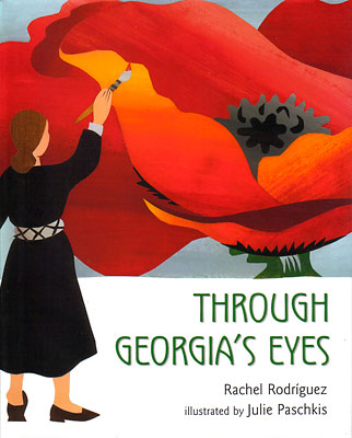 """In spare and elegant prose this book tells the story of the life and work of the great American painter Georgia O'Keeffe. The illustrations are done in collage to honor but not imitate the work of O'Keeffe. """"It is not often that author, illustrator and subject come together so seamlessly. Breathtaking.: *Kirkus (starred review)"""