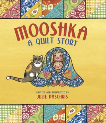 """Karla has a quilt that can talk - it tells her the stories of her family. But Mooshka is silent when Karla has to share the room with her new sister until Karla learns to share Mooshka and the family stories. """"With elegant simplicity and generously colored and patterned pages, this picture book shows how a family quilt can connect children to both the past and the present."""" *Booklist (starred review)"""
