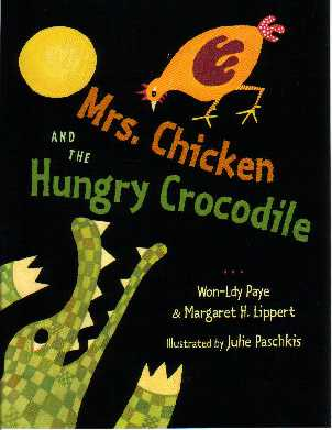 "Mrs. Chicken outwits the hungry crocodile in this Liberian tale. ""This delectable offering will be a hit at story time."" *School Library Journal (starred review)"