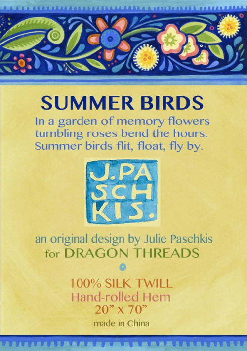 summer bird label