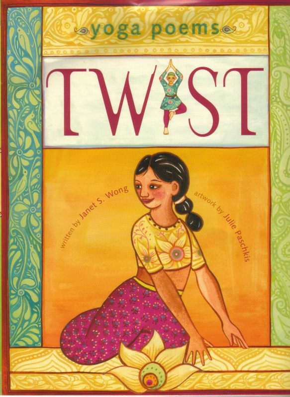"""This collection of 16 poems touches on the uplifting and emotional aspects of yoga, putting words to the spirit of the poses and evoking the energy and feelings of the practice...Lovely to listen to and to look at, Twist is sure to inspire some new yogis."""" School Library Journal"""