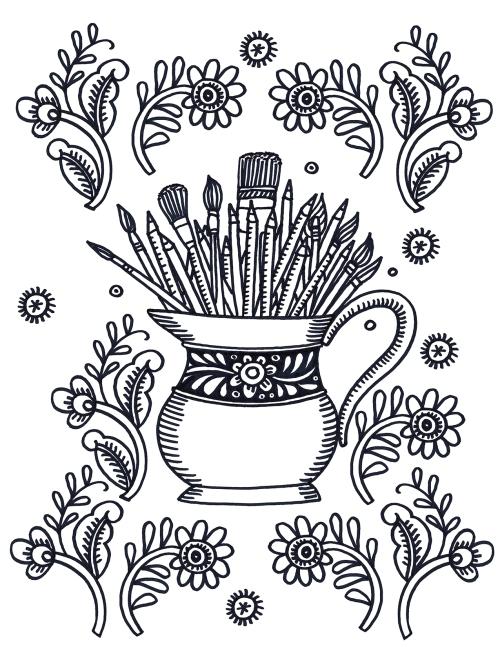 pencil jug